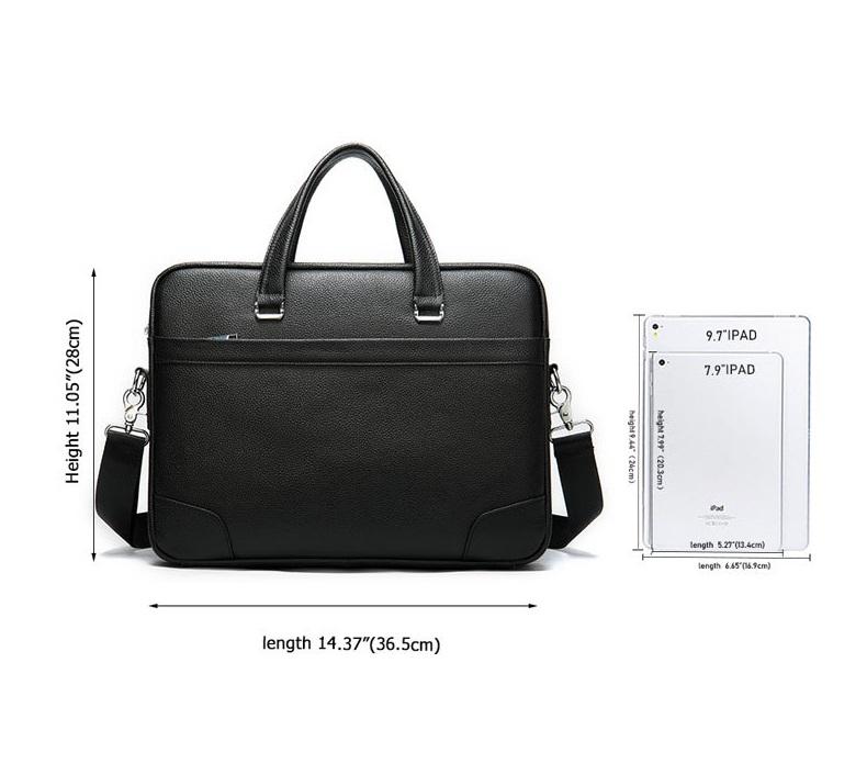 Túi Xách Nam Da Bò Thật Nhập Khẩu Đựng Laptop Thời Trang XTS29-1
