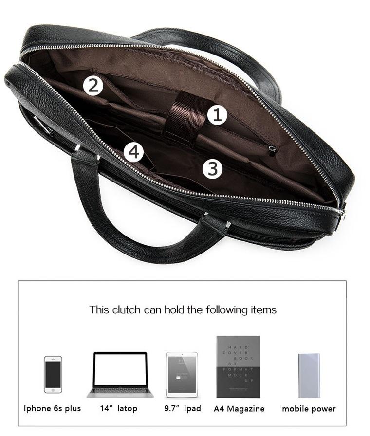 Túi Xách Nam Da Bò Thật Nhập Khẩu Đựng Laptop Thời Trang XTS29-15