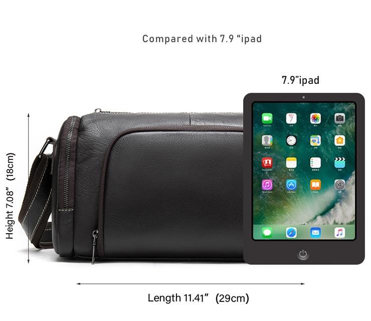 Túi Trống Zip Mini Da Bò Đựng iPad Thật Phong Cách Thời Trang Arrival