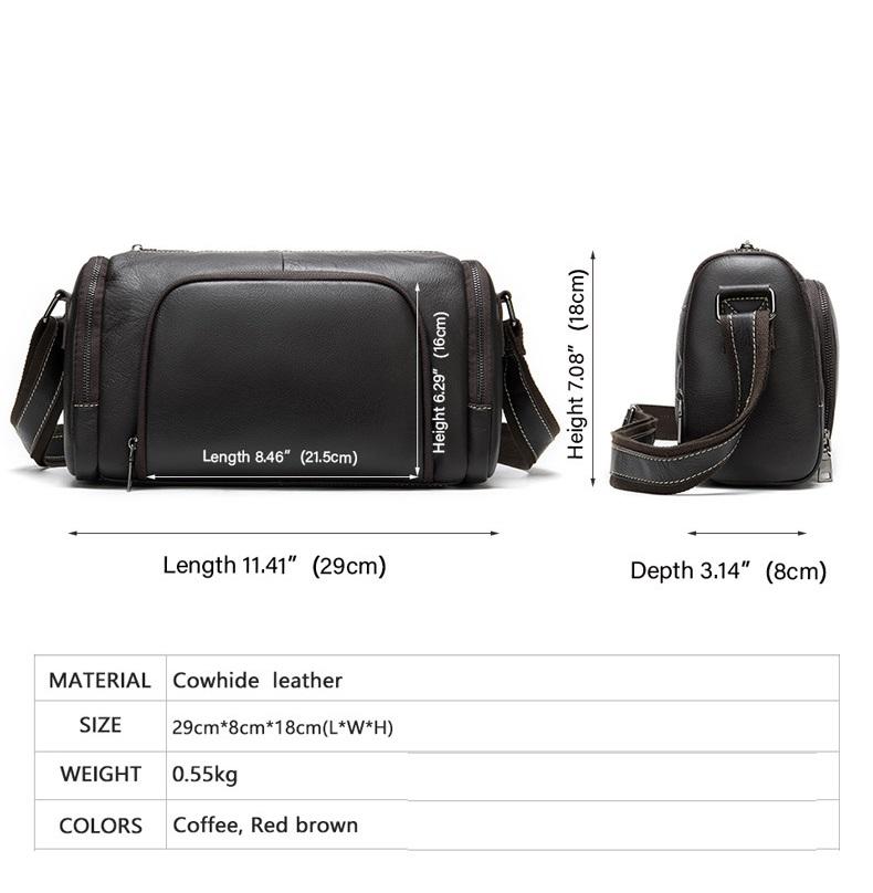 Túi Trống Zip Mini Da Bò Đựng iPad Thật Phong Cách Thời Trang Arrival-6