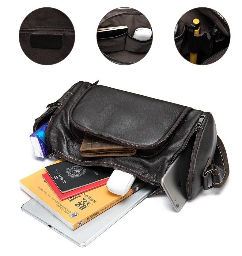 Túi Trống Zip Mini Da Bò Đựng iPad Thật Phong Cách Thời Trang Arrival-3