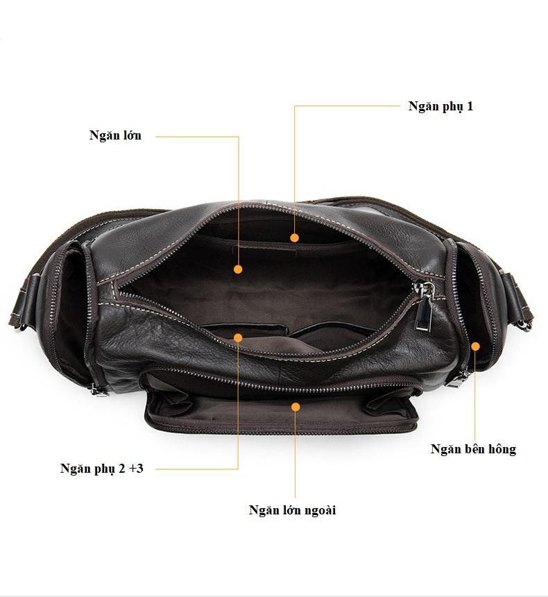 Túi Trống Zip Mini Da Bò Đựng iPad Thật Phong Cách Thời Trang Arrival-4